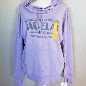 Cabelas cotton sweatshirt with hood